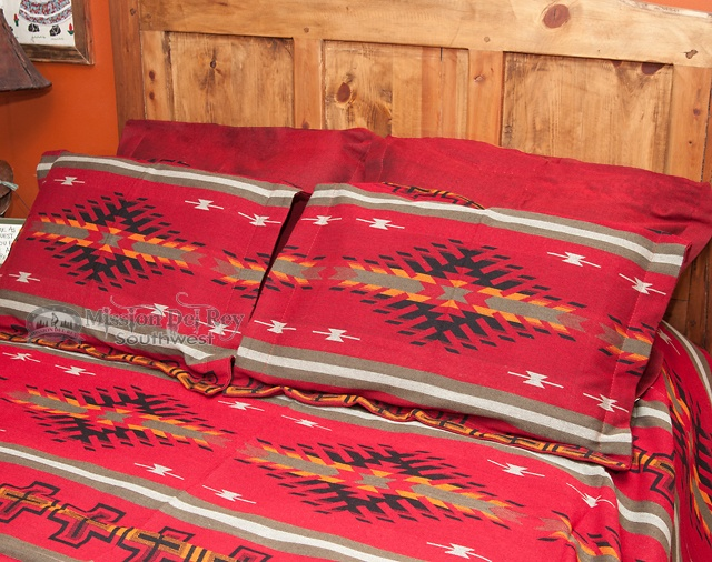 Southwestern Euro Pillow Shams : Southwestern Bedspread Santa Clara TWIN SIZE