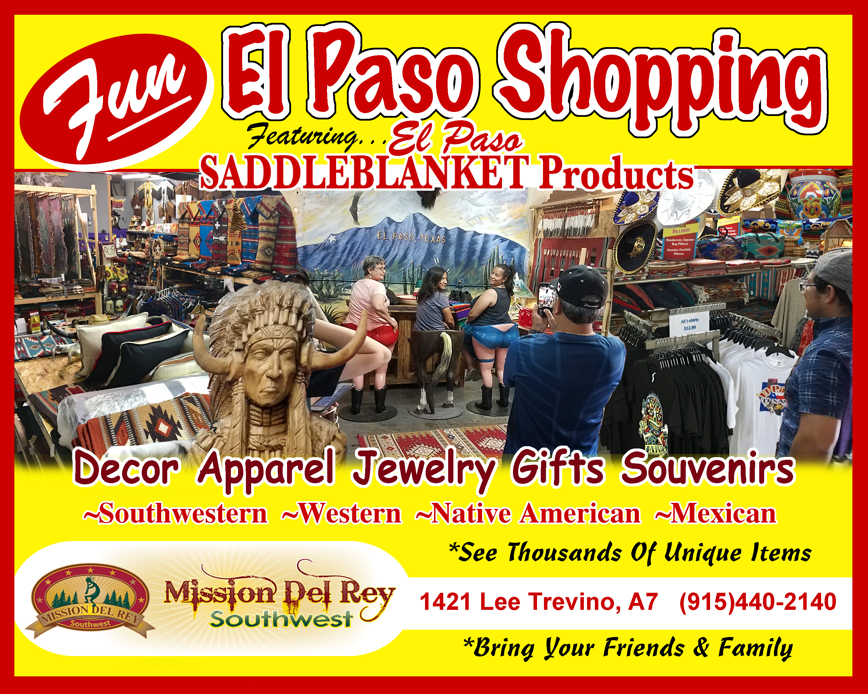El Paso Souvenirs at Mission Del Rey Southwest