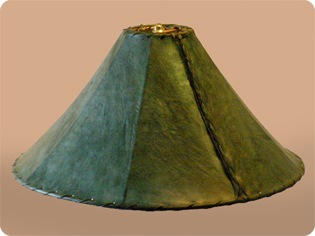 Green Rawhide Lamp shades