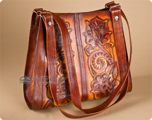 Hand Tooled Leather Purses