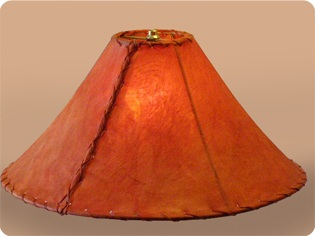 Red Rawhide Lamp Shades